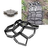Hengda® Pflasterform Gehweg Pflastermacher Path Maker Garten Gehwegplatten Betonpflaster Schalungsform 43*43*4 cm