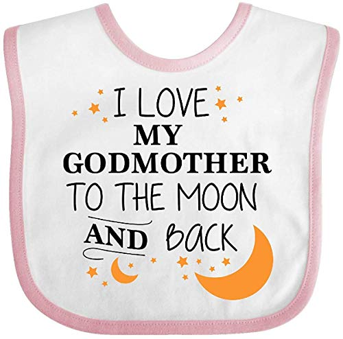 I Love My Godmother To The Moon and Back Baby Bib