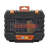 Black+Decker A7233-XJ - Juego de 31 Piezas para Atornillar y Taladrar' Titanio' en...