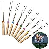Bräter Sticks (Set 8), Grill Bräter Gabeln 81,3cm ausziehbar Gabeln für BBQ at der Lagerfeuer