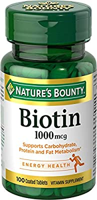 Nature's Bounty, Biotin, 1000 mcg, 100 Tablets by Nature's Bounty