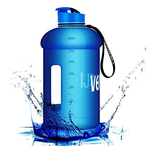 VENNERLI Trinkflasche Sport 2,2 Liter Groß Sport Wasserflasche Groß Sportflasche BPA Frei Auslaufsicher, für Gym|Diät|Bodybuilding|Outdoor Sport|Wandern|Büro