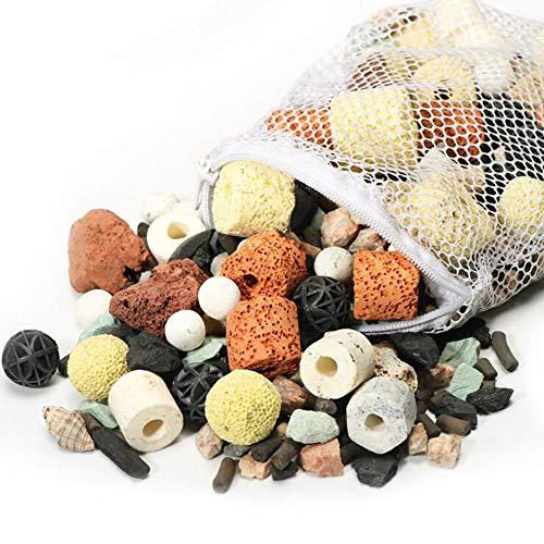 Juanshi 1 Beutel Aquarium Bio Balls Filter Aquarium Teich Keramikringe Filtermedien 500g Bio Balls für Aquarium oder Mini-Riff Aquarium -