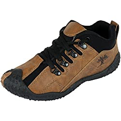 Tempo Men's Brown Synthetic Leather Running Shoes-8