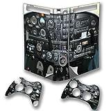 Flugzeuge 10027, Cockpit, Wrap Around Design folie Sticker Skin Aufkleber Schutzfolie mit Farbenfrohe Design für Xbox 360 Fat Konsole mit 2 Controller.