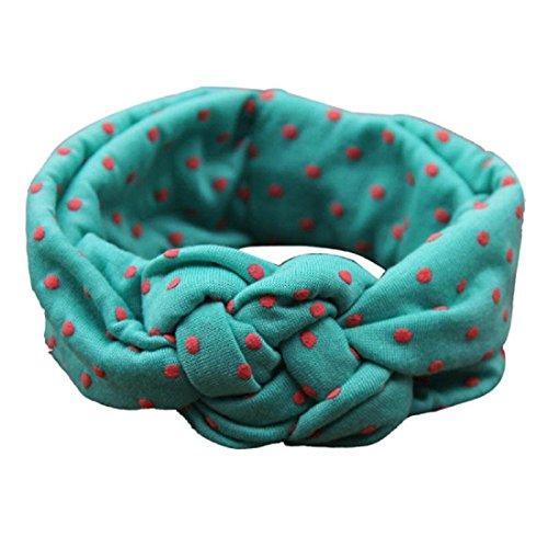 Bébés filles Bandeau Ularmo Mode enfants Dot Cross Weave Twist Bandeau Bébé Accessoires cheveux (Rose) Vert