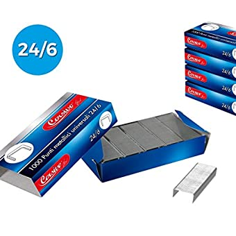 725257 Lot de 10 colis de 1000 points italique universels 24/6 pour agrafeuse cloueuse. MEDIA WAVE store ®