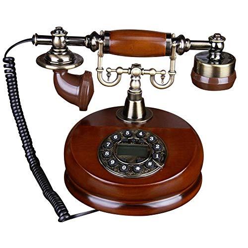 Riverry modello telephone, legno classico retro vintage rotary dial antique landline continental classic metallo orologio villa phone office home home decoration