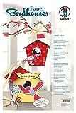 Ursus 22470099 - Paper Birdhouses, Bastelset für 10 Vogelhäuschen, retro style