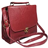 Chalissa Maroon Classic Box Sling Bag For Women & Girls