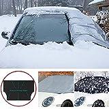 Slri Auto SUV Magnetische Frontscheibenabdeckung Scheibenabdeckung Windschutzscheibe Abdeckung Sonne Schnee EIS Frost - Schwarz L