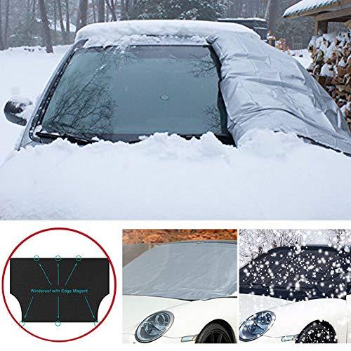 Verlike Car SUV magnétique Avant Pare-Brise Sun Snow Ice Frost Abat-Jour Housse de Protection Anti-poussière Anti-Snow Taille S Noir