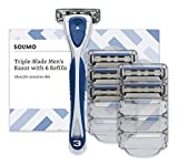Amazon Brand - Solimo Male 3 Blade Razor with 6 Refills
