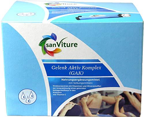 SanViture Gelenk Aktiv Komplex, Kollagen Aufbau, Chondroitin 30 Ampullen, 8g