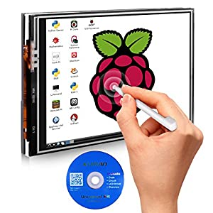 51Ox7MSeoBL. SS300  - Kuman 3.5 Inches Touch Screen Display Monitor 480x320 LCD Touch Screen Kit with 16GB TF Card for Raspberry Pi 3 Model B SC06+TF