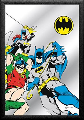Batman Espejo en look de comic con marco Negro (22x 32cm)