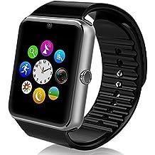 mokebao portátil Bluetooth Smart Watch GT08 inteligente salud muñeca reloj teléfono con tarjeta SIM ranura para Android Samsung, HTC, LG, Sony (Full funciones) IOS iPhone 5/5S/6/Plus (funciones parcial) silver