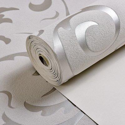 YIWAN Papel Pintado de Pared con Dibujos en el Dormitorio Gris Plata 53 cm * 1000 cm