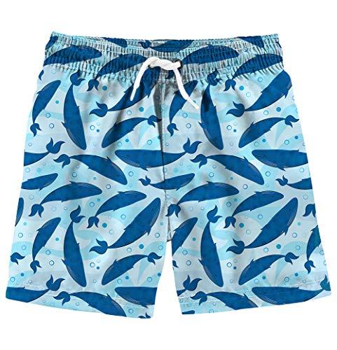 Kinder Badeshorts Printed Sommer Cartoon Wal Schnelltrocknend Sport Shorts Schwimmen Shorts ()