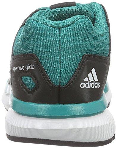 adidas Performance Unisex-Kinder Supernova Glide 8 Laufschuhe Grün (Core Black/Ftwr White/Eqt Green S16)