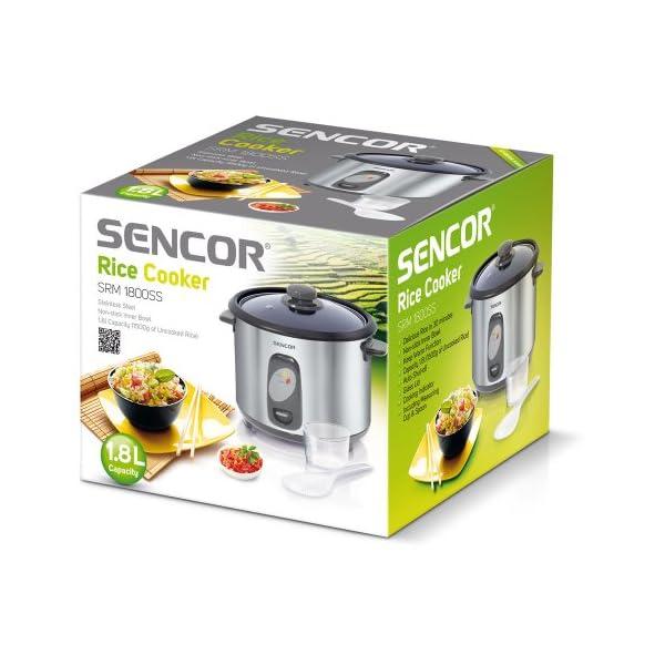 Sencor-SRM-1800SS-Cuiseur-de-riz-700W-Volume-de-18-l-pour-cuire-1500-g-de-riz
