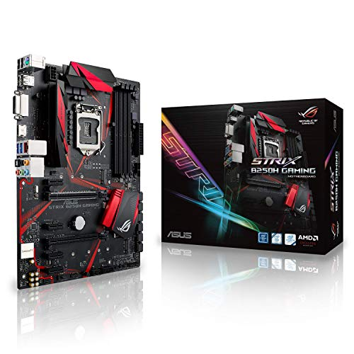 Asus ROG Strix B250H Gaming - Plaque base (Prise Intel 1151, 4 x DDR4 2400 MHz, MAX 64 GB RAM, DVI-D, HDMI, Facteur de forme ATX)