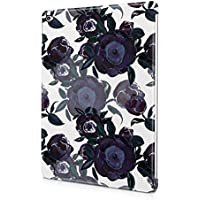 Flower Night Blue Rose Blossom Pattern Durable Hard Plastic Snap-On Plastic Tablet Case Cover For iPad Air 2