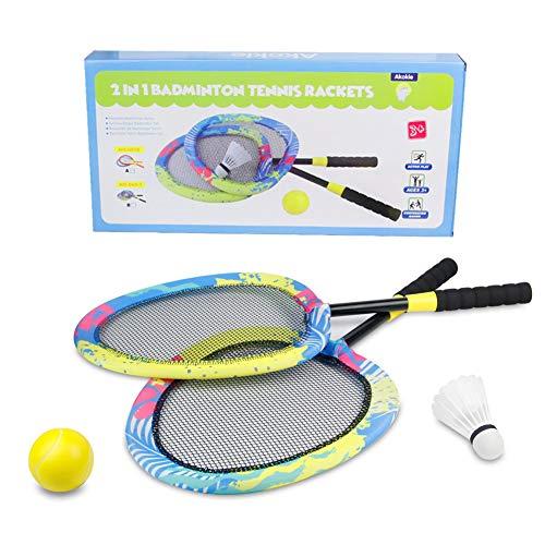 Raquetas Bádminton Tenis Niño Juegos al Aire Libre Juguetes de jardín Playa con Bolas3 4 5 6 7 Años