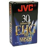JVC EC30 EHG VHSC Compact - Videocassette vergini, 30 minuti, 3 pz