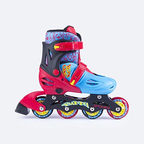 SPOKEY® BUDDY Inline Skates für Kinder | Größenverstellbar | 30-33/34-37 | ABEC1 Karbon | Rollerskates | Blades
