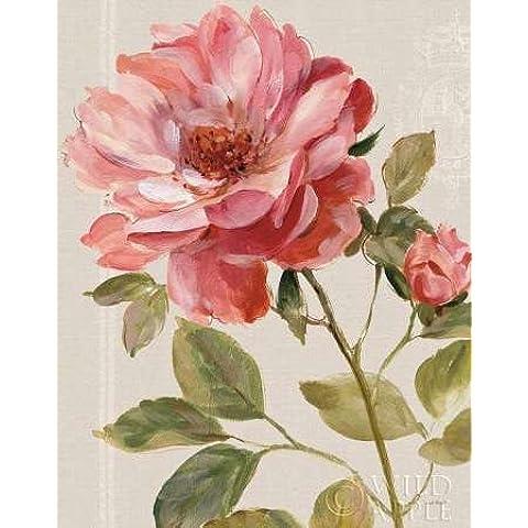 Feeling at home, Stampa artistica x cornice - quadro, fine art print, Armonico Rose Lino cm 100x78