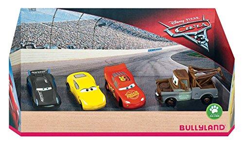 Bullyland 12167 - Disney Pixar Cars 3 - 4 Spielfigurenset in Geschenk Box