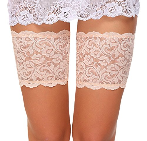 ADOME Elastische Strumpfbänder Spitze Oberschenkel bänder Socken Anti-Chafing Anti Scheuern