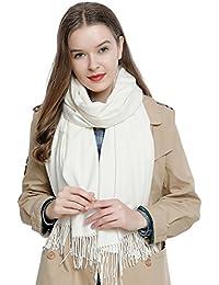 890e04577f9 Grande écharpe d hiver femme 185 x 65 cm uni doux et chaud