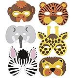 RETON Children's Foam Animal Masks (20 Pcs)