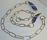 Sprenger Halskette Edelstahl 55cm, Glied 40 mm, Draht 4 mm