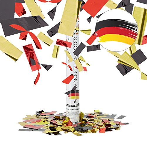 artypopper 40 cm Germany, Schwarz-Rot-Gold (Schwarz Und Gold-party Supplies)