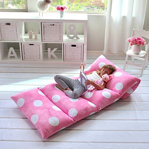 Butterfly Craze Sitzbezug und Kissenbezug, für Mädchen, aus superweichem Premium-Kunststoff, ideal zum Lesen und Fernsehen King Size Hellrosa Farbe (Teen Lesen)