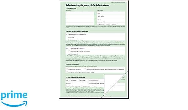 25 St/ück DIN A4 SIGEL AV422//25 Arbeitsvertrag gewerblich
