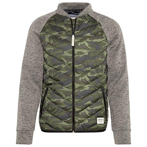 TOM TAILOR Denim Herren Jacke Light Puffer Mixed Fabric Camouflage