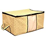 #7: Kuber Industries Non Woven Underbed Storage Bag, Extra Large, Cream
