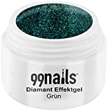 99nails Diamant Effektgel - Grün, 1er Pack (1 x 5 ml)