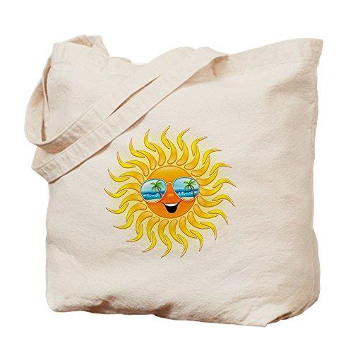 CafePress Tragetasche mit Sonnenbrille, Sommersonne, canvas, khaki, S