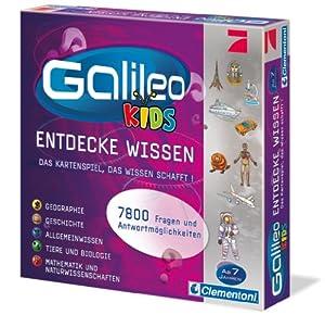 Clementoni Galileo - Juego de preguntas, 2 a 4 jugadores (versión en alemán)