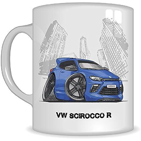 Regalos de Koolart k3323-mg dibujos animados de VW Scirocco R–Caricatura regalo de taza VW Azul/Negro Para Hombre (tazas