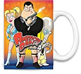 Brandino Amerikanisches Vati-Plakat - American Dad Poster Unique Coffee Mug | 11Oz| High Quality Ceramic Cup| The Best Way to Surprise Everyone on Your Special Day| Custom Mugs by