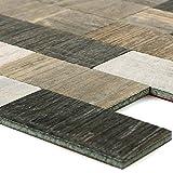 Mosaikfliesen Selbstklebend Holzoptik Arkansas Braun Beige