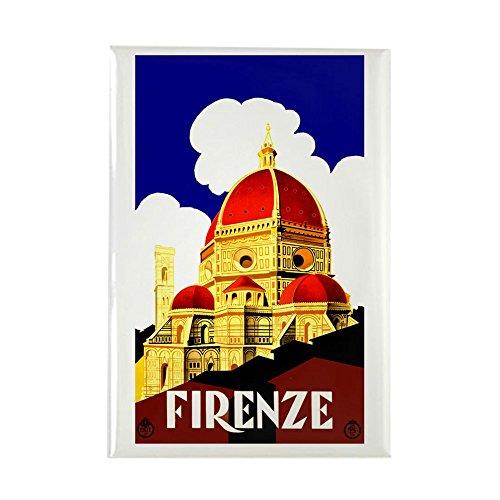CafePress–Vintage Florenz Italien Reisen–Rechteck Magnet, 5,1x 7,6cm Kühlschrank Magnet Magnet Kühlschrank Abdeckung