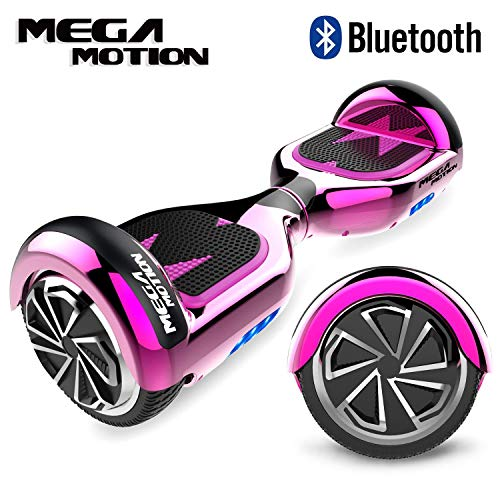 "Mega Motion Self Balance Scooter 6,5\"" - 2018 Elektro Scooter E-Skateboard - Scooter - UL zertifizierten 2272 LED - Räder mit LED Licht -Bluetooth Lautsprecher–700W Motor"