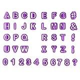 OurLeeme 40pcs Alfabeto Lettera Numero taglierina della Torta Attrezzi Decorativi della Torta del Fondente Biscotto Muffa di Cottura